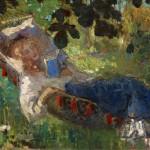 Lezend meisje in hangmat, Rober Graafland