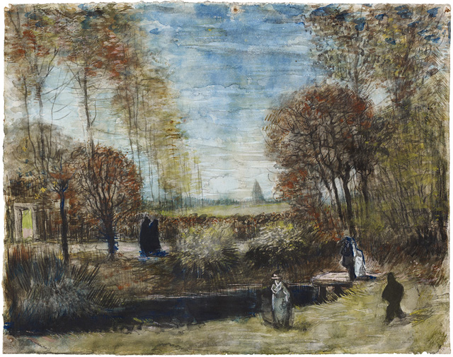 'De tuin van de pastorie te Nuenen', Vincent van Gogh