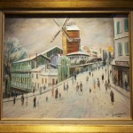 Le Moulin de la Galette sous la neige van Willy James