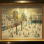 Place du Tertre sous la neige van Willy James
