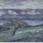 Au bord de Lac Neuchâtel, Emmanuel de la Villéon