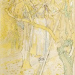 Appleplukster in de boomgaard, Jan Toorop