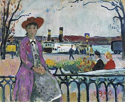 Gall, Francois - Meisje in haven