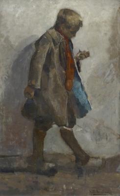 Breitner, George Hendrik - Jongetje met vogel