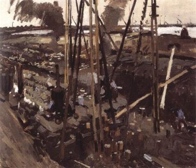 George Hendrik Breitner - Heiwerken in Amsterdam