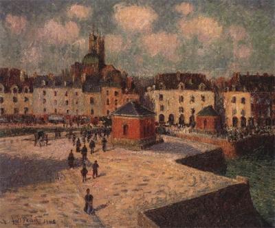 Le quai de carénage, Dieppe; soleil