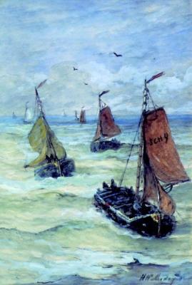Binnenkomst van de vissersvloot