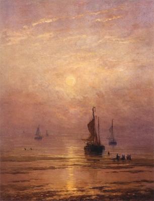Zomeravond op het strand te Scheveningen