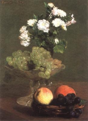 Nature morte, fleurs et fruits