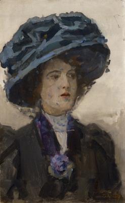 Israels, Isaac - Elegante dame met hoed en voile