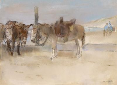 Israels, Isaac - Ezeltjes op het strand