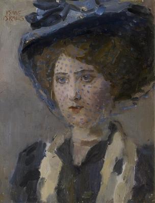 Israels, Isaac - Portret van een jonge vrouw met voile