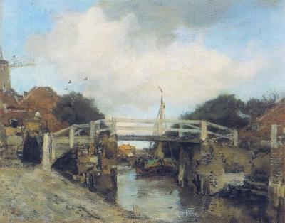 Maris, Jacob - Het bruggetje bij Loosduinen