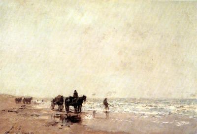 Maris, Jacob - Vissers aan het strand