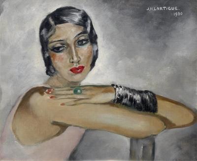 Lartigue, Jacques-Henri - Portret van Renee Perle