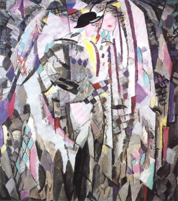 Sluijters, Jan - Portret van een dame in rijcostuum