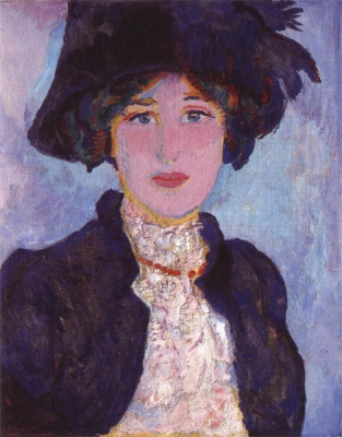 Sluijters, Jan - Portret van Greet, 1909