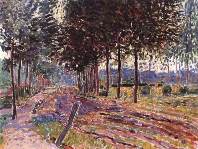 Sluijters, Jan - Zandweg met bomen, 1908