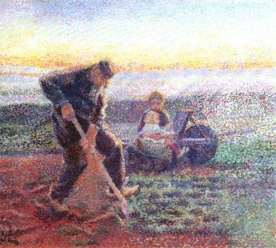 Toorop, Jan - Spittende boer