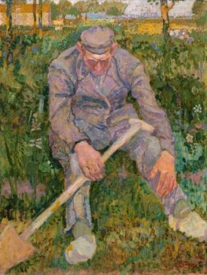 Toorop, Jan - Rustende boer met spade