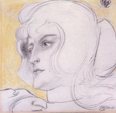 Toorop, Jan - Portret van Marguérite Helfrich