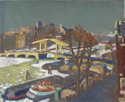 Wiegers, Jan - Gezicht op de Magere Brug te Amsterdam