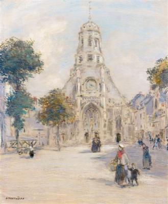 Raffaelli, Jean Francois - Église et place animée
