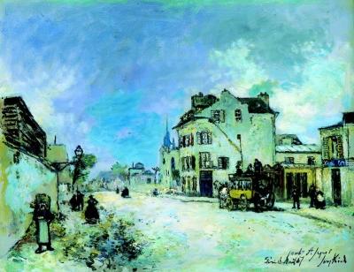 Jongkind, Johan Barthold - Le Fauborg Saint-Jaques, La Diligence