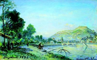 Jongkind, Johan Barthold - Les bords de l'Isère à Grenoble au printemps
