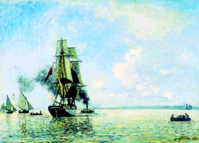 Jongkind, Johan Barthold - Sortie du Port de Honfleur