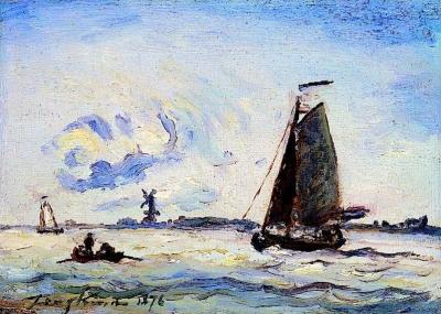 Jongkind, Johan Barthold - Voilier sur la Meuse près de Dordrecht