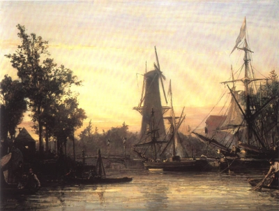 Jongkind, Johan Barthold - Le port de Rotterdam