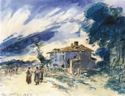 Jongkind, Johan Barthold - Conversation sur la route; Chabons