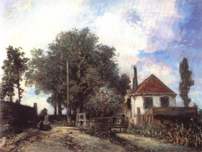 Jongkind, Johan Barthold - La nourrice