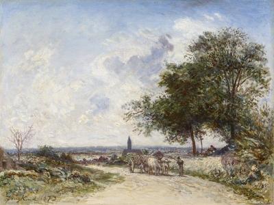 Jongkind, Johan Barthold - La Route à Saint-Eloy-sur-Loire