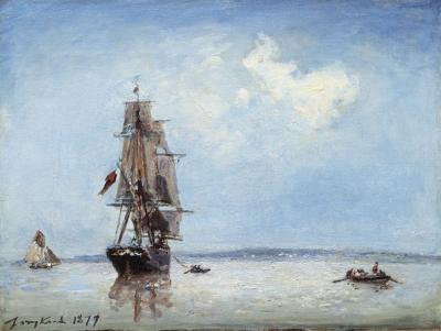 Jongkind, Johan Barthold - Entrée du Port d'Honfleur ( marée montante)