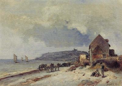 Jongkind, Johan Barthold - La plage de Sainte Adresse