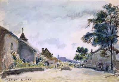 Jongkind, Johan Barthold - L'Église et le Cimétière de Chabons Isère