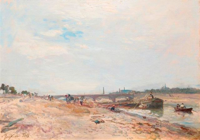 Jongkind, Johan Barthold - Les quais de la Seine à Paris