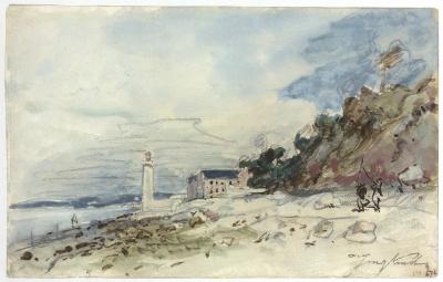 Jongkind, Johan Barthold - Phare à Honfleur