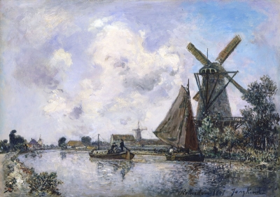 Jongkind, Johan Barthold - Canal près de Rotterdam