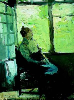 Weissenbruch, Johan Hendrik - Zittende vrouw voor het raam