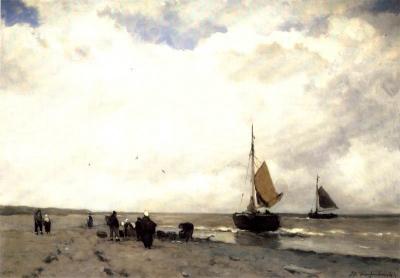 Weissenbruch, Johan Hendrik - Het uitladen van de vangst