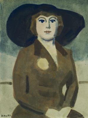 Maks, Kees - Zittende vrouw met hoed