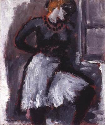 Dongen, Kees van - Femme rattachant son jupon