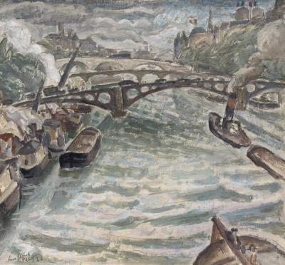 Leo Gestel - Gezicht op de Seine