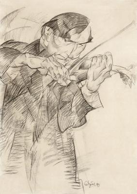 Gestel, Leo - Portret van de violist Dirk Gootjes