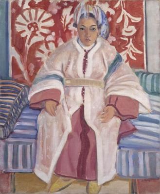 Favre, Louis - Zittend Marokkaans meisje