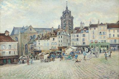 Marktplein in Pontoise