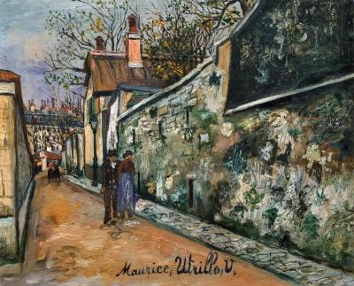 Utrillo, Maurice - Stadsgezicht Rue St. Vincent
